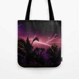 Sunset Lightening Storm (Color) Tote Bag