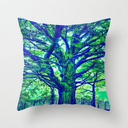 Underwater Wood 4 Throw Pillow