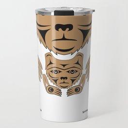 Spirit Bear & Cub by: Jody Broomfield Travel Mug