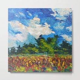 Waikato Corn Field - Summer Landscape of New Zealand Metal Print