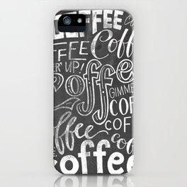Chalkboard Coffee Love iPhone Case