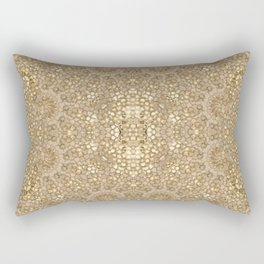 Ornate Golden Baroque Design Rectangular Pillow