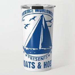 Boats and Hoes Logo Funny Travel Mug