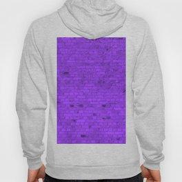 Bright Neon Purple Brick Wall Hoody