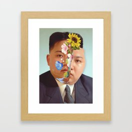 Kim Jong Un - Photo Manipulation Framed Art Print