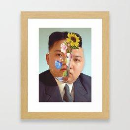 Kim Jong Un - Photo Manipulation Framed Art Print