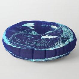 Harmony within the Orca Yin&Yang Floor Pillow