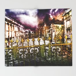 New Orleans cemetery Throw Blanket