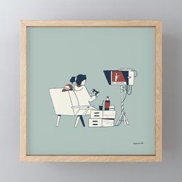 Video assistant in quarantine Framed Mini Art Print