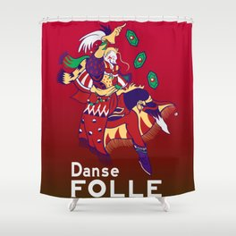Gamer Geeky Chic FF6 Inspired Kefka Dancing Mad Danse Folle Shower Curtain