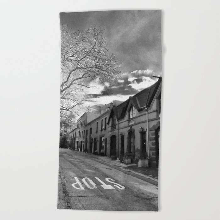 STOP For Brooklyn Heights Brownstone Love NYC Beach Towel