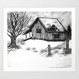 The Forgotten Cabin In The Woods Art Print