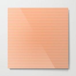 Peach Stripes Design Metal Print