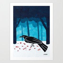 Walking Crow Art Print