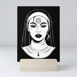 Satanic Nun. Bad Nun Mini Art Print