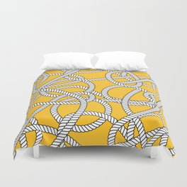 Nautical Yellow Rope Pattern Repeat Duvet Cover