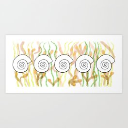 Fossil Round Shell Art Print