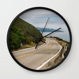 Big Sur Highway 1 Wall Art | California Nature Mountains Ocean Beach Coastal Travel Photography Print Wall Clock