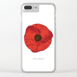 poppy .. lest we forget Clear iPhone Case