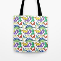 dinosaurs Tote Bags featuring Dinosaurs!!!! by Morgan