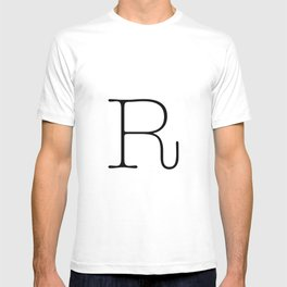 Letter R Typewriting T-shirt