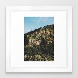 Oregon falls Framed Art Print