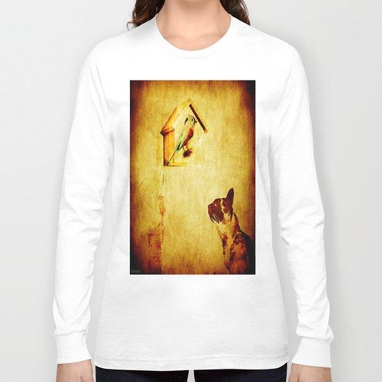 Cat and Bird Long Sleeve T-shirt
