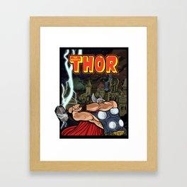 The Mighty Thor, God of Thunder Framed Art Print