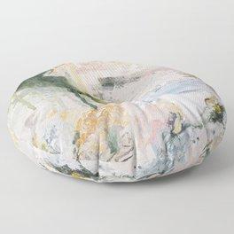 White Territory Floor Pillow