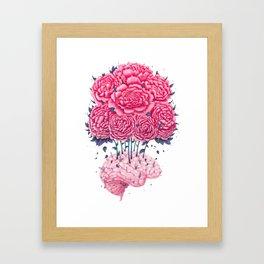 Creative Brains with peonies Framed Art Print