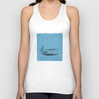 the whale Tank Tops featuring whale by Tina Siuda
