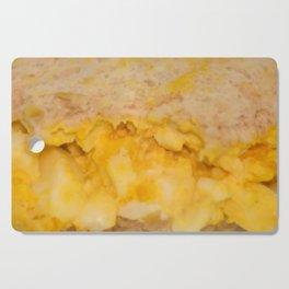 Egg salad with Oatmeal Toast Cutting Board