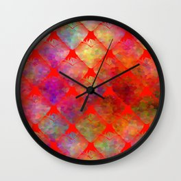 Strawberry Hearts Wall Clock