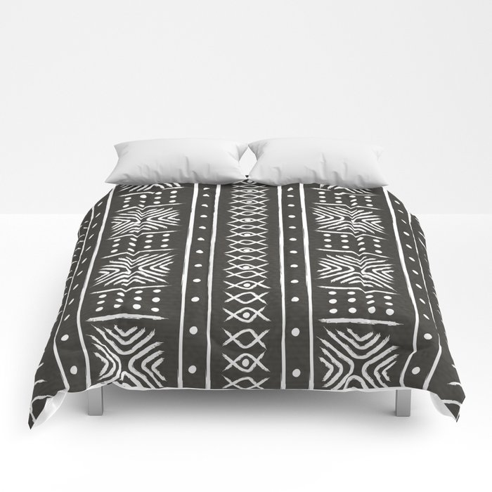 Another Black Mud Cloth Comforters by Society6