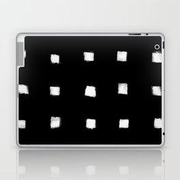 Polka Strokes Gapped - Off White on Black Laptop & iPad Skin