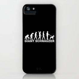Giant Schnauzer Evolution iPhone Case