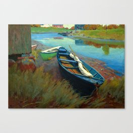 arthur wesley dow  , the boat Canvas Print