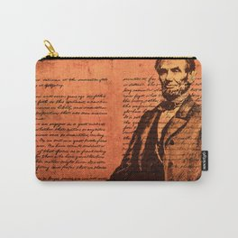 Abraham Lincoln and the Gettysburg Address Carry-All Pouch