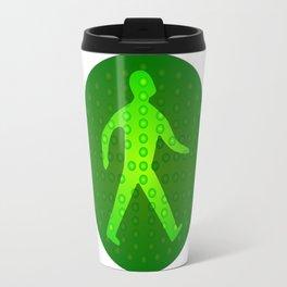 Green Walking Man Travel Mug
