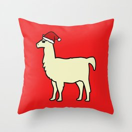 Christmas Llama Throw Pillow