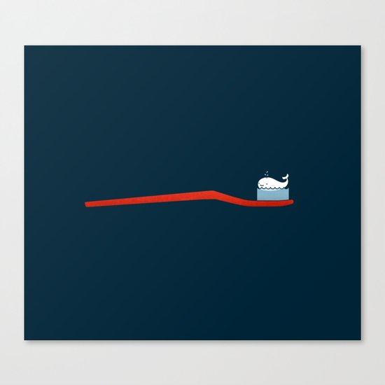 Whale Paste Canvas Print