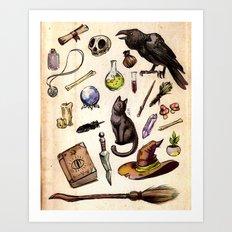 Witching Essentials Art Print