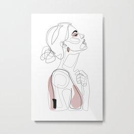 Blush Beauty Metal Print