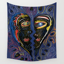 Love is Communication Street Art Graffiti Primitive Art Wall Tapestry