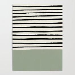 Sage Green x Stripes Poster