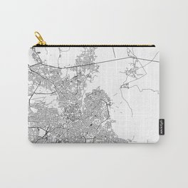 Nicosia City Map Cyprus White and Black Carry-All Pouch