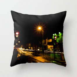 Stop light speedway Throw Pillow