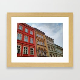 Krakow Beautiful Colorful Houses Framed Art Print