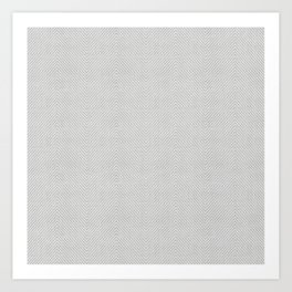Stitch Weave Geometric Pattern in Grey Art Print