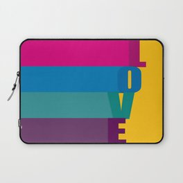 The love is colorful Laptop Sleeve